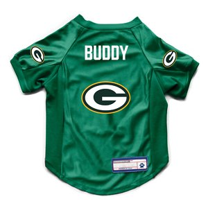 Littlearth NFL Personalized Stretch Dog & Cat Jersey, Green Bay Packers, Medium