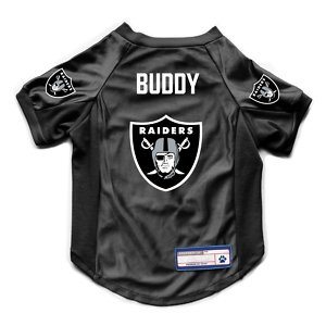 Littlearth NFL Personalized Stretch Dog & Cat Jersey, Las Vegas Raiders, Small