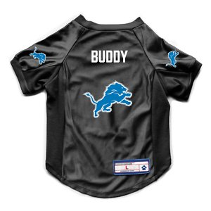 Littlearth NFL Personalized Stretch Dog & Cat Jersey, Detroit Lions, X-Large