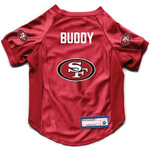 Littlearth NFL Personalized Stretch Dog & Cat Jersey, San Francisco 49ers, Medium