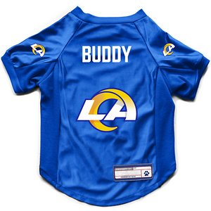 Littlearth NFL Personalized Stretch Dog & Cat Jersey, Los Angeles Rams, Small
