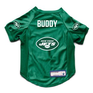 Littlearth NFL Personalized Stretch Dog & Cat Jersey, New York Jets, Large