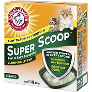 Arm & Hammer Litter Super Scoop Fresh Clean Scent Clumping Litter, 14-lb bo
