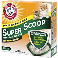 Arm & Hammer Litter Super Scoop Fresh Clean Scent Clumping Litter, 20-lb box