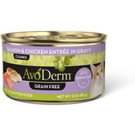 AvoDerm Natural Grain-Free Salmon & Chicken Entree in Gravy Canned Cat Food, 3-oz, case of 24