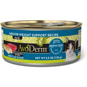 Roll over image to zoom in AvoDerm Natural Indoor Weight Support Recipe Adult Canned Cat Food, slide 1 of 6 Slide 2 of 6 Slide 3 of 6 Slide 4 of 6 Slide 5 of 6 Slide 6 of 6 AvoDerm Natural Indoor Weight Support Recipe Adult Canned Cat Food