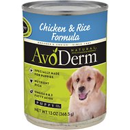 AvoDerm Natural Chicken & Rice Formula Puppy Canned Dog Food, 13-oz, case of 12