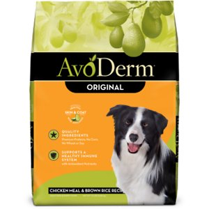 AvoDerm Natural Chicken Meal & Brown Rice Formula Adult Dry Dog Food, 15-lb bag