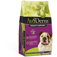 AvoDerm Natural Brown Rice & Chicken Meal Formula Weight Control Dry Dog Food, 4.4-lb bag