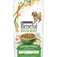 Purina Beneful Healthy Weight with Real Chicken Dry Dog Food, 31.1-lb bag