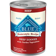 Blue Buffalo Homestyle Recipe Beef Dinner with Garden Vegetables & Sweet Potatoes Canned Dog Food, 12.5-oz, case of 12