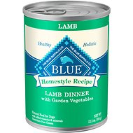 Blue Buffalo Homestyle Recipe Lamb Dinner with Garden Vegetables Canned Dog Food, 12.5-oz, case of 12