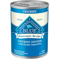 Blue Buffalo Homestyle Recipe Chicken Dinner with Garden Vegetables & Brown Rice Canned Dog Food, 12.5-oz, case of 12