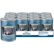 Blue Buffalo Wilderness Turkey & Chicken Grill Grain-Free Canned Dog Food, 12.5-oz, case of 12