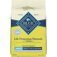 Blue Buffalo Life Protection Formula Healthy Weight Adult Chicken & Brown Rice Recipe Dry Dog Food, 15-lb bag