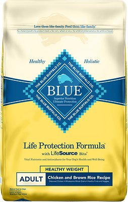 4. Blue Buffalo Life Protection Formula Healthy Weight Recipe
