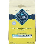 Blue Buffalo Life Protection Formula Healthy Weight Adult Chicken & Brown Rice Recipe Dry Dog Food, 30-lb bag
