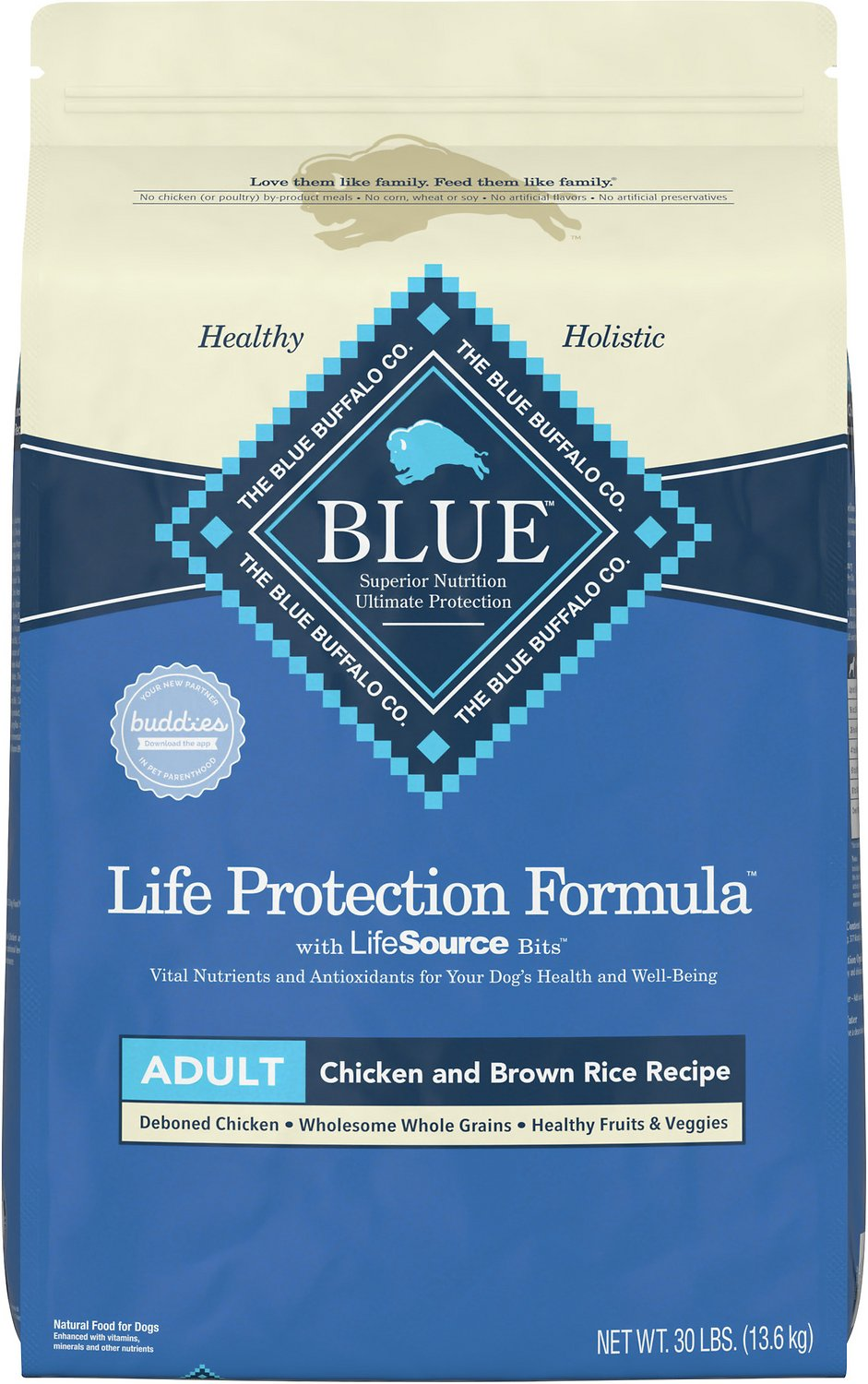 Blue buffalo life protection formula adult chicken brown for Blue buffalo fish and brown rice