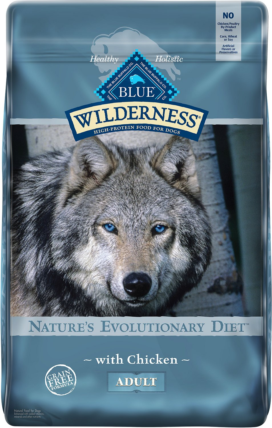 Blue Buffalo Wilderness Chicken Recipe Grain Free Dry Dog Food 24