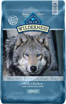 5. Blue Buffalo Wilderness Chicken Recipe Grain-Free Dry Dog Food