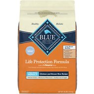 Blue Buffalo Life Protection Formula Large Breed Adult Chicken & Brown Rice Recipe Dry Dog Food, 30-lb bag