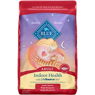 Blue Buffalo Indoor Health Salmon & Brown Rice Recipe Adult Dry Cat Food, 15-lb bag