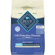 Blue Buffalo Life Protection Formula Large Breed Healthy Weight Adult Chicken & Brown Rice Recipe Dry Dog Food, 30-lb bag