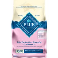 Blue Buffalo Life Protection Formula Small Breed Puppy Chicken & Oatmeal Recipe Dry Dog Food, 6-lb bag