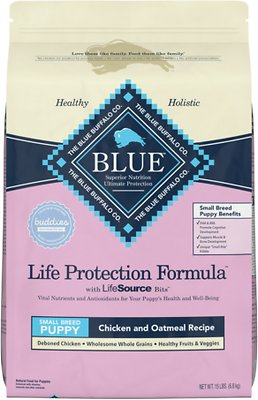 Blue Buffalo Life Protection Formula Small Breed Puppy Chicken & Oatmeal Recipe Dry Dog Food, slide 1 of 10