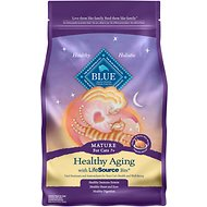 Blue Buffalo Healthy Aging Chicken & Brown Rice Recipe Mature Dry Cat Food, 3-lb bag
