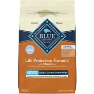 Blue Buffalo Life Protection Formula Large Breed Senior Chicken & Brown Rice Recipe Dry Dog Food, 30-lb bag