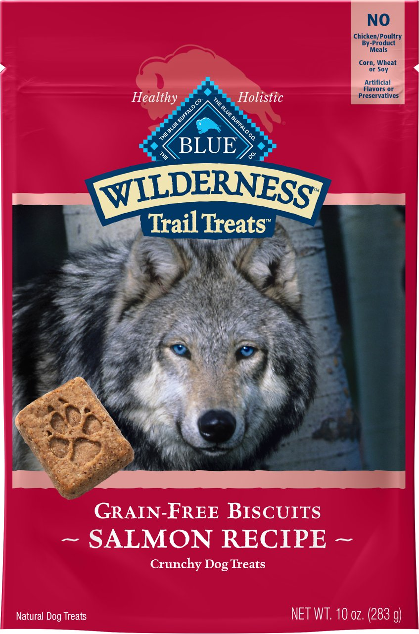 Blue Buffalo Wilderness Trail Treats Salmon Biscuits Grain