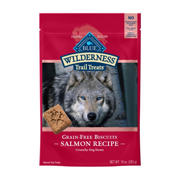 Blue Buffalo Wilderness Trail Treats Grain Free Salmon Dog Biscuits
