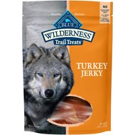 Blue Buffalo Wilderness Trail Treats Turkey Jerky Grain-Free Dog Treats, 3.25-oz