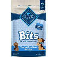 Blue Buffalo Blue Bits Tasty Chicken Recipe Soft-Moist Training Dog Treats, 4-oz bag