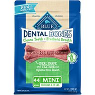 Blue Buffalo Dental Bones All Natural Mini Dog Treats, 12-oz bag
