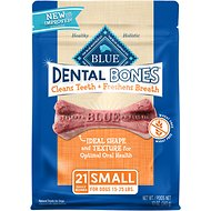 Blue Buffalo Dental Bones All Natural Small Dog Treats, 12-oz bag