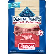 Blue Buffalo Dental Bones All Natural Regular Dog Treats, 12-oz bag