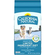 California Natural Adult Limited Ingredient Grain Free Chicken Meal Recipe Dog Food, 4.5-lb bag