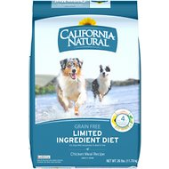 California Natural Adult Limited Ingredient Grain Free Chicken Meal Recipe Dog Food, 26-lb bag