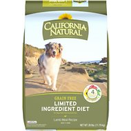 California Natural Adult Limited Ingredient Grain Free Lamb Meal Recipe Dog Food, 26-lb bag