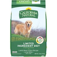 California Natural Adult Limited Ingredient Lamb Meal & Rice Recipe Large Bites Dog Food, 13-lb bag