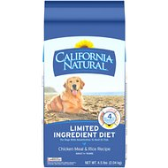 California Natural Adult Limited Ingredient Chicken Meal & Rice Recipe Dog Food, 4.5-lb bag