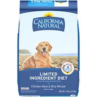 California Natural Adult Limited Ingredient Chicken Meal & Rice Recipe Dog Food, 13-lb bag