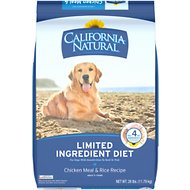 California Natural Adult Limited Ingredient Chicken Meal & Rice Recipe Dog Food, 26-lb bag