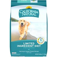 California Natural Adult Limited Ingredient Herring & Sweet Potato Recipe Dog Food, 26-lb bag