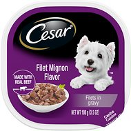 Cesar Gourmet Filets in Sauce Filet Mignon Flavor Dog Food Trays, 3.5-oz, case of 24