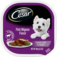 Cesar Classic Loaf in Sauce Filet Mignon Flavor Dog Food Trays, 3.5-oz, case of 24