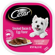 Cesar Sunrise Breakfast with Smoked Bacon & Egg Dog Food Trays, 3.5-oz, case of 24