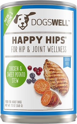 3. Dogswell Happy Hips and Sweet Potato Stew Recipe Canned Dog Food